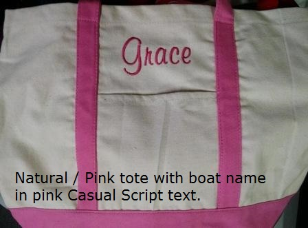 Pink Boat Tote
