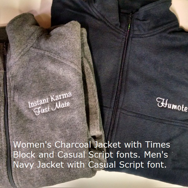 Boat Name Fleece Jacket