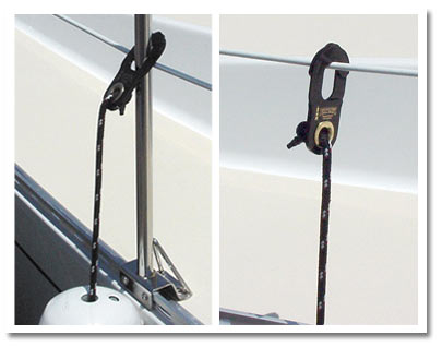 Fender Clips for boat fenders and bumpers