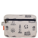 Lined Travel Kit - Nautical Navy