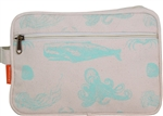 Lined Travel Kit - sea life mint